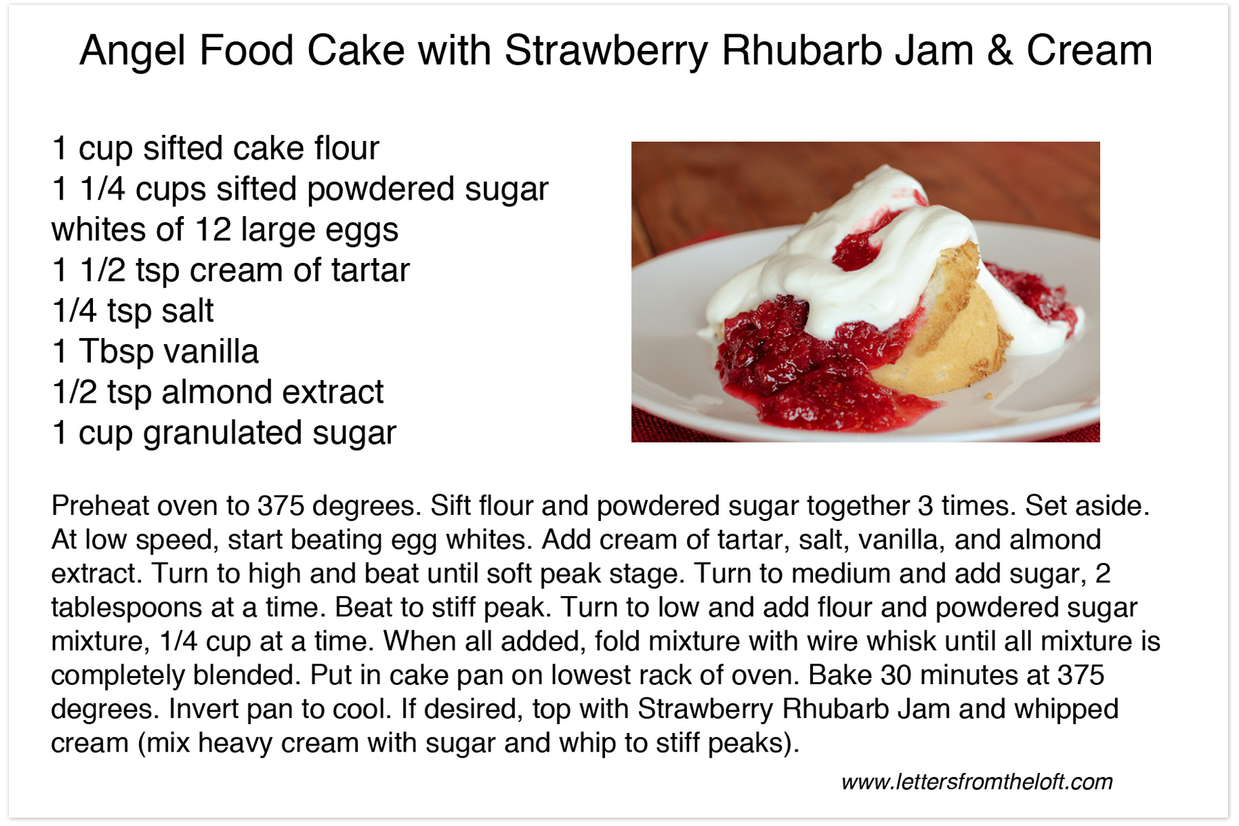Cake Recipes With Pictures And Procedure : LOW FAT ANGEL FOOD CAKE RECIPE - 7000 Recipes